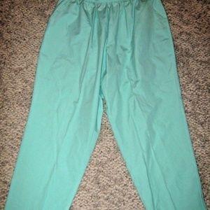 Mint Green Elastic Stretch Waist 2 Pocket Pant 20W